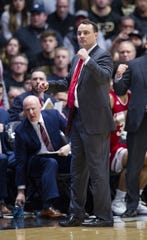 Indiana Hoosiers head coach Archie Miller reacts during the first half against Purdue