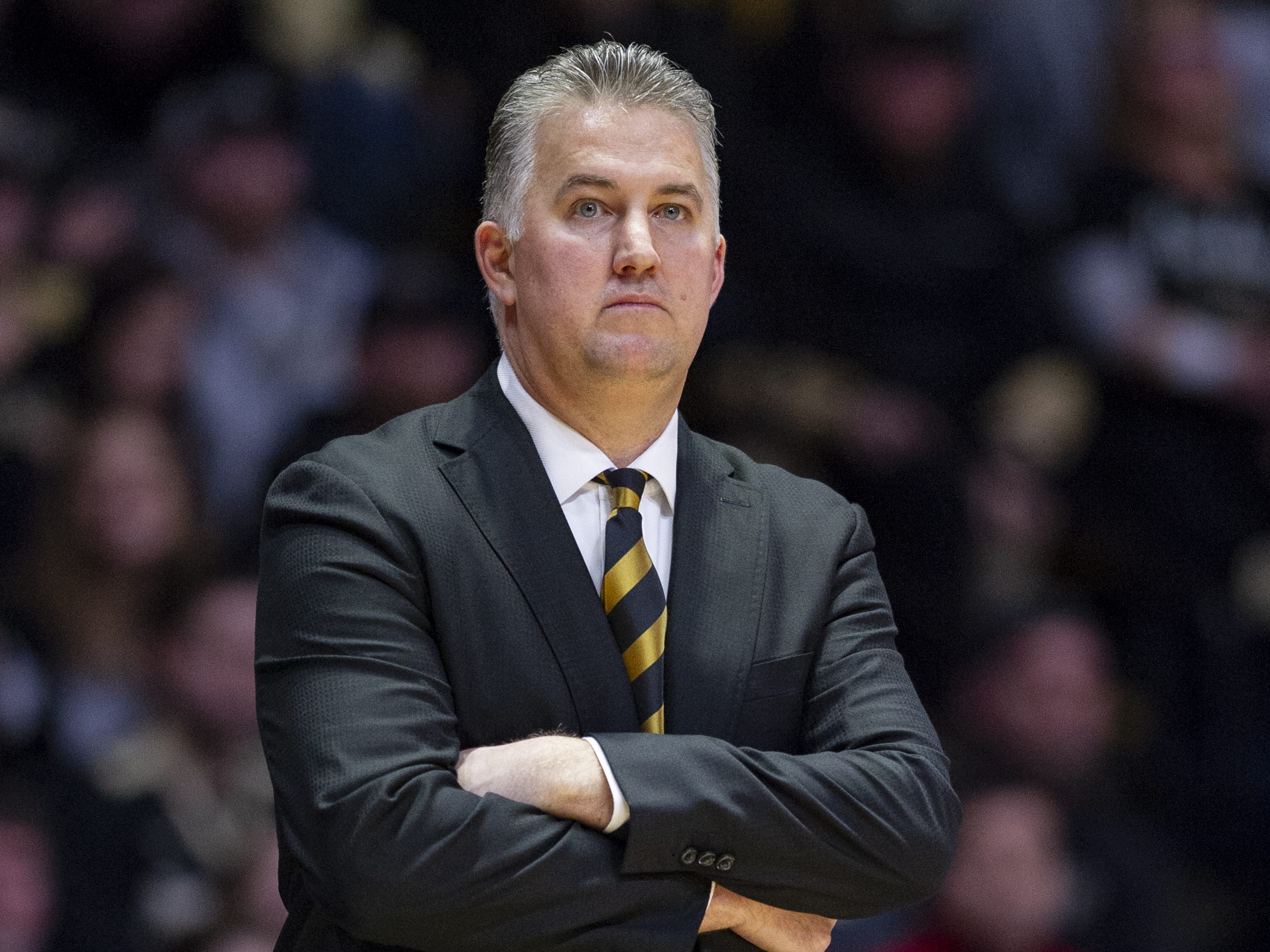 Purdue Boilermakers head coach Matt Painter watches his team during the first half agains Indiana.