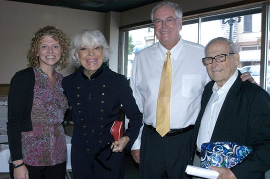 Lori Nolen, Carol Channing, Huntingdon Mayor Dale Kelley and Channing's husband Harry Kullijian in 2009.