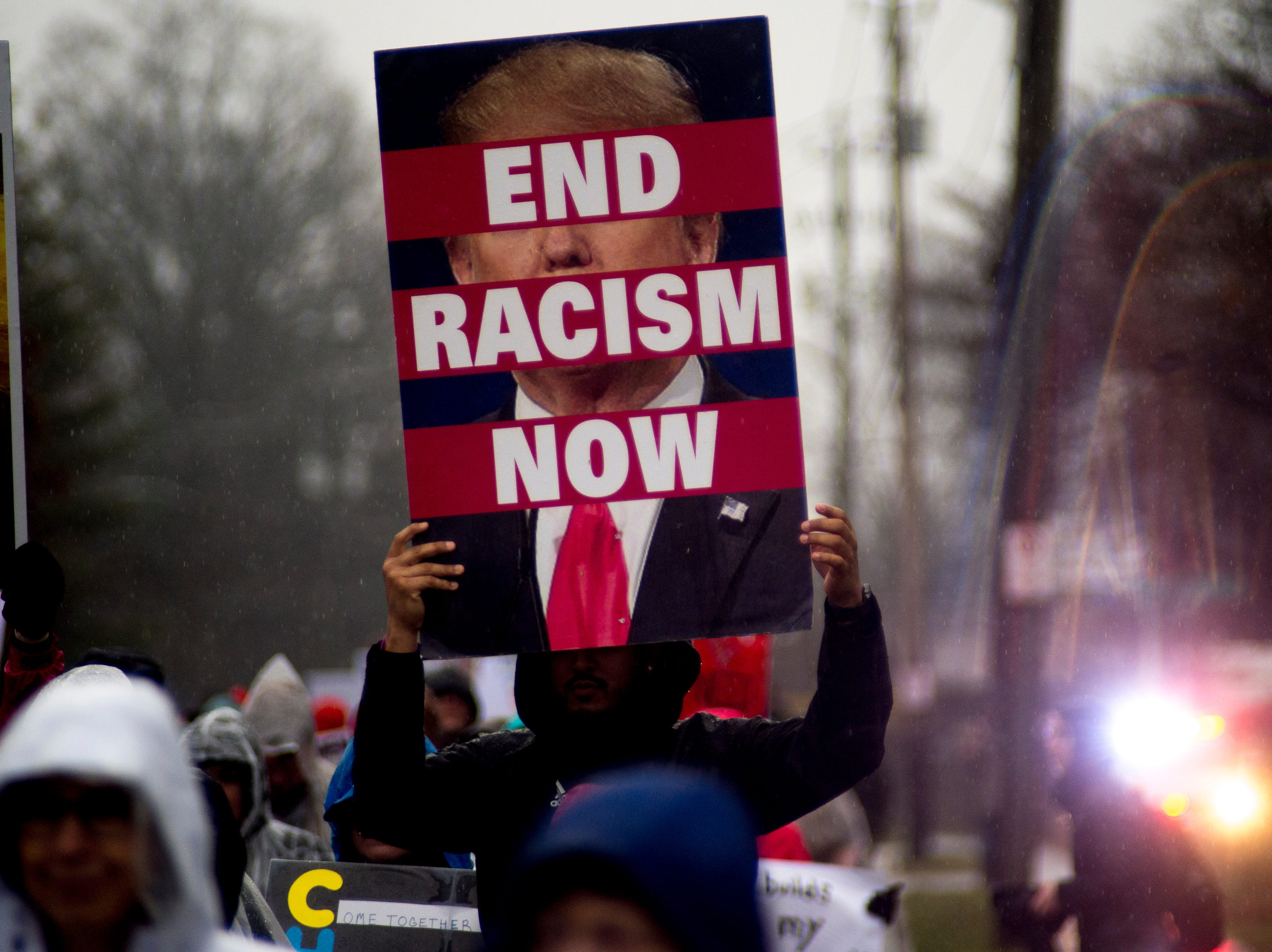 Demonstrators march down Martin Luther King Blvd. at the 2019 Knoxville Women's March at Chilhowee Park in Knoxville, Tennessee on Saturday, January 19, 2019.