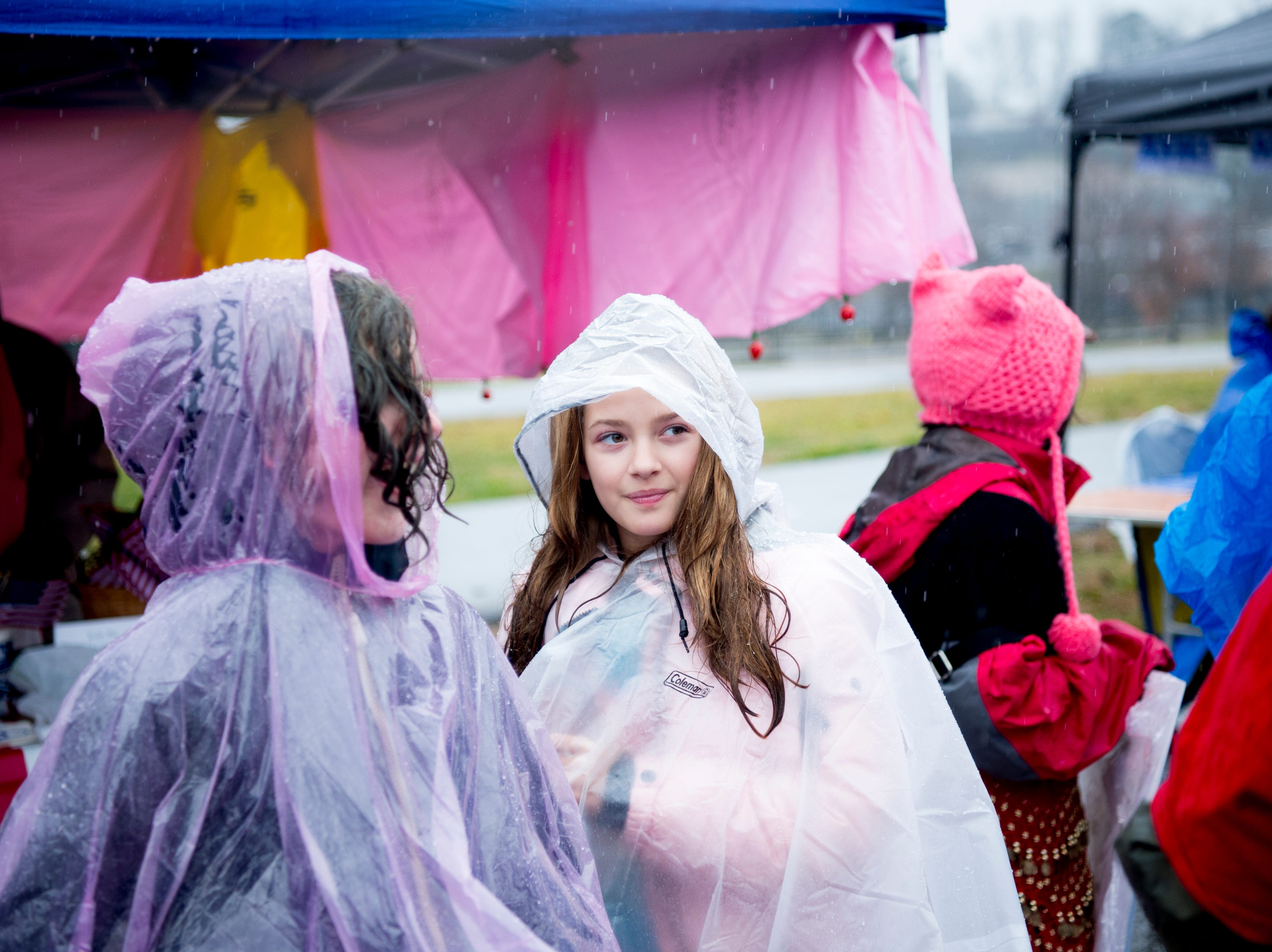 Attendees walk through the organization tents at the 2019 Knoxville Women's March at Chilhowee Park in Knoxville, Tennessee on Saturday, January 19, 2019.