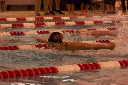 West Lafayette's Maddie Sheiss captured the 200-yard IM and 100 butterfly championships at Friday's Hoosier Conference championships hosted by Twin Lakes.