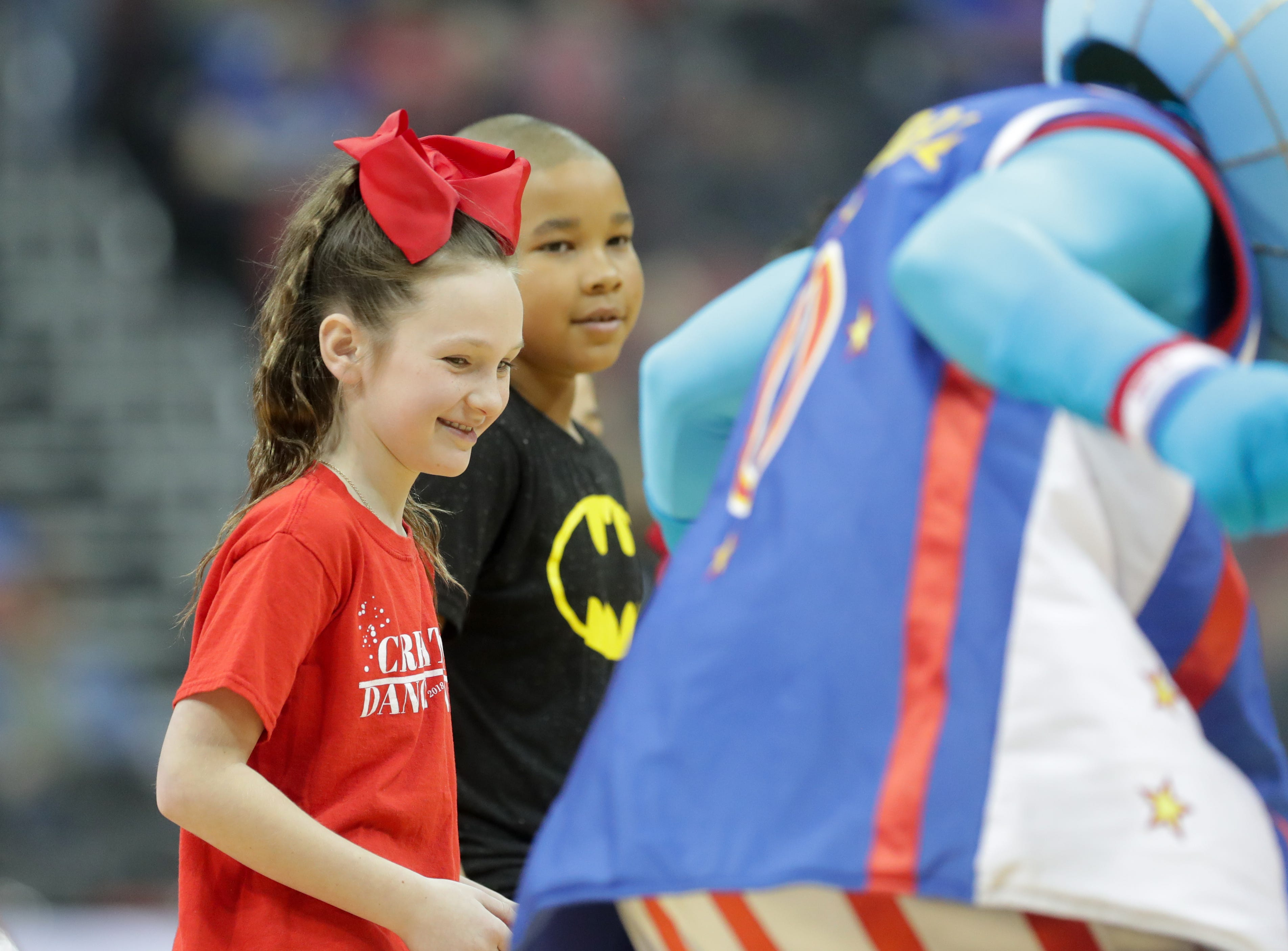 Kids get ready to play musical chairs before the Harlem Globetrotters game began. Jan. 19, 2019