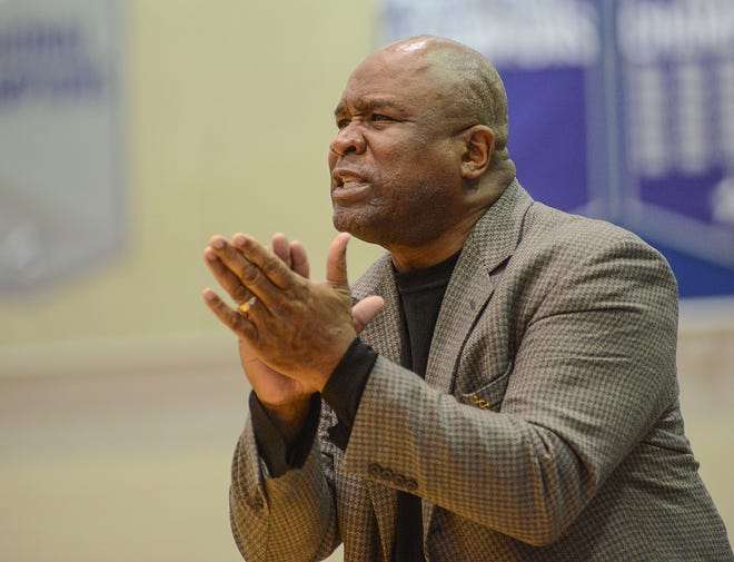 Lansing Community College Head Basketball Mike Ingram is in his 29th year as coach at the college and is going for his 600th win Saturday, Jan. 19, 2019 against Glen Oaks Community College.