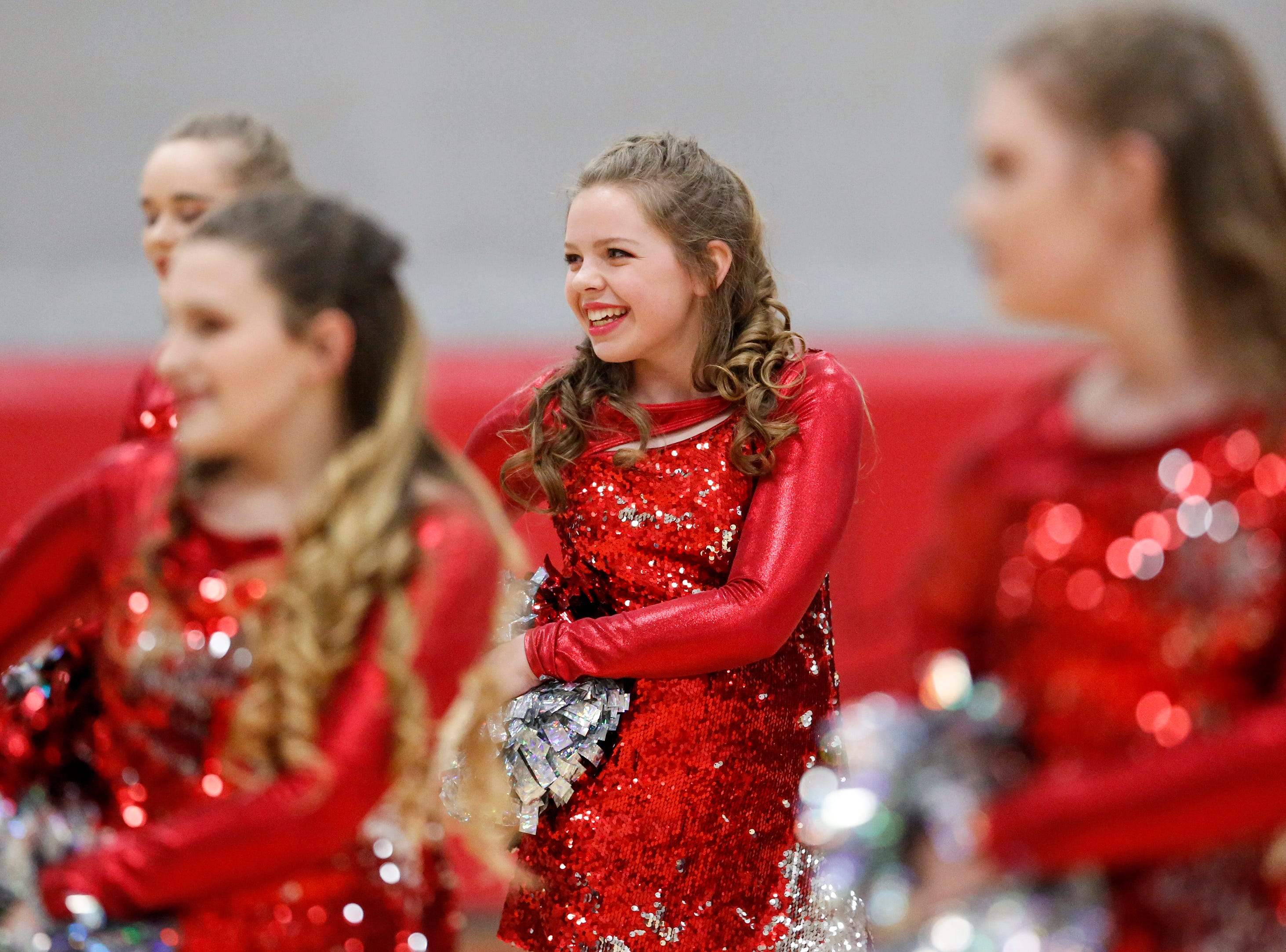 Manitowoc Lutheran's dance team performs at halftime during a boys basketball game against Kohler at Manitowoc Lutheran High School Friday, January 18, 2019, in Manitowoc, Wis. Joshua Clark/USA TODAY NETWORK-Wisconsin