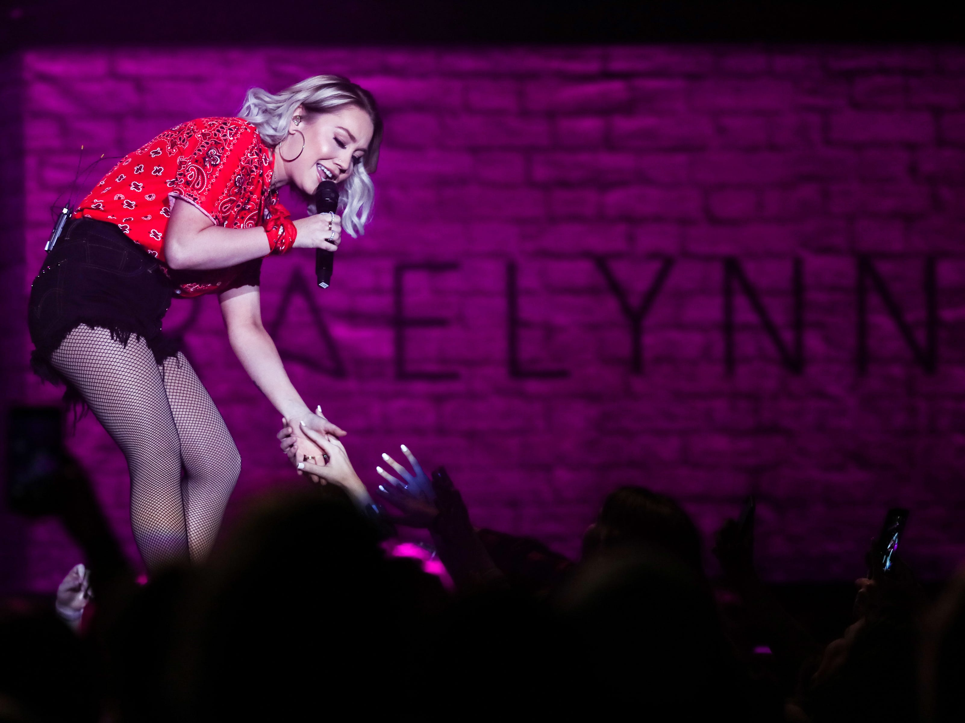 RaeLynn performs at the Landers Center in Southaven, Miss., Friday, Jan. 18, 2019.