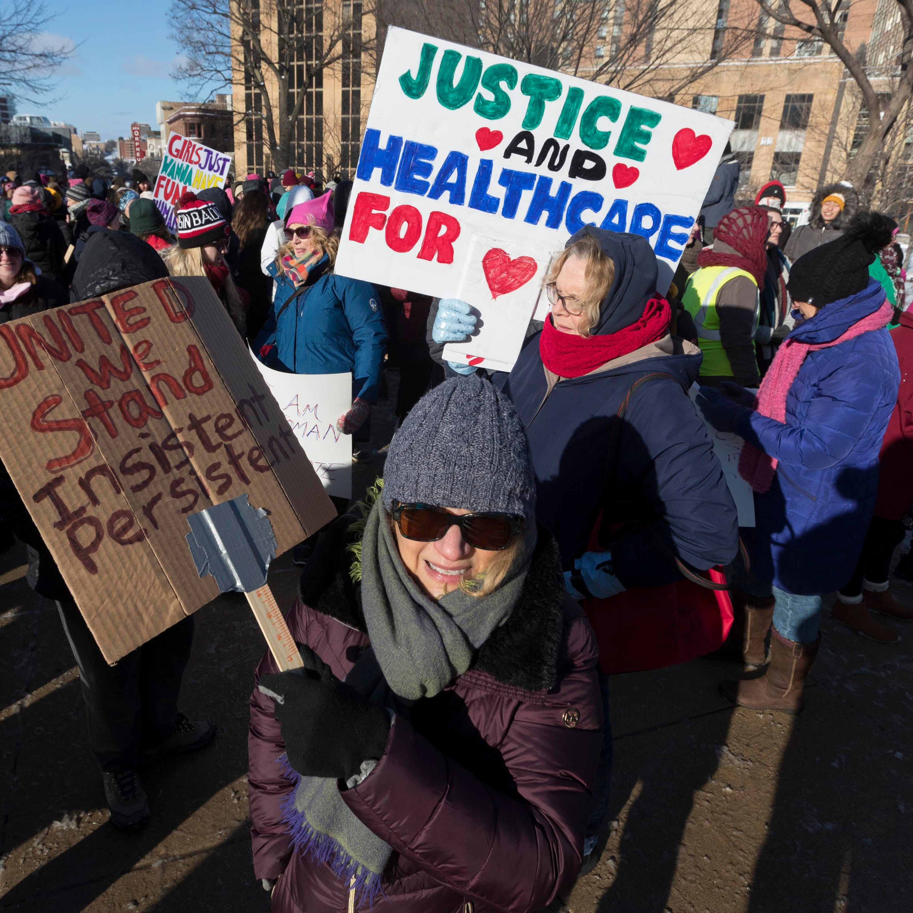 Women's March returns amid controversy; hundreds rally in Madison