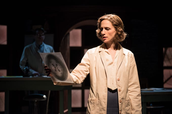 """Cassandra Bissell portrays DNA pioneer Rosalind Franklin in Renaissance Theaterworks' production of """"Photograph 51."""""""