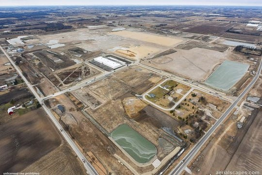 Foxconn Technology Group builds a large production complex in Mount Pleasant.