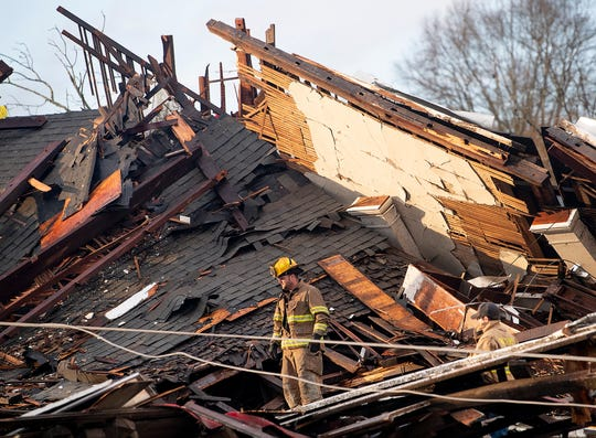 Damage from a tornado touchdown in Wetumpka, Ala., on Saturday afternoon January 19, 2019.