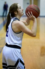 Prattville Christian's Ella Jane Connell (2) shoots against Booker T. Washington Magnet on the PCA campus in Prattville, Ala., on Friday January 18, 2019.