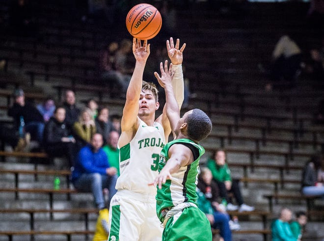 New Castle's Luke Bumbalough shoots 44 percent from the 3-point line and averages 12 attempts per game