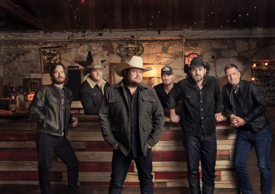 """Randy Rogers Band will release its new album """"Hellbent"""" in April. From left: Johnny """"Chops"""" Richardson, Les Lawless, Randy Rogers, Geoffrey Hill, Brady Black, Todd Stewart."""