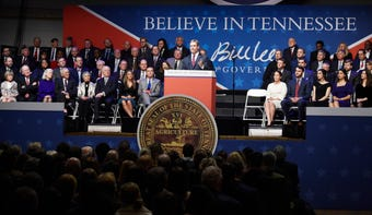 Bill Lee was sworn in as governor of Tennessee on Jan. 19, 2019.