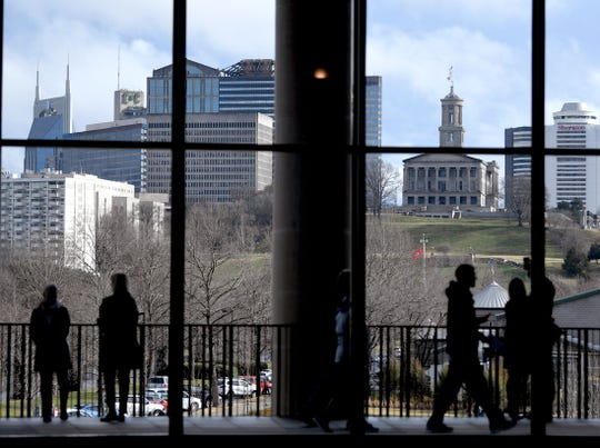 People visit the Tennessee State Museum for free as part oft Bill Lee's inauguration day in Nashville on Saturday,  Jan. 19, 2019.
