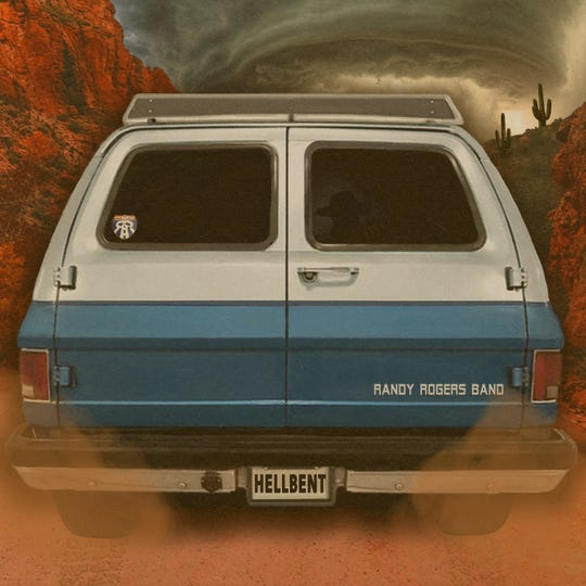 """Randy Rogers Band's new album """"Hellbent"""" features the back of """"Peaches,"""" the Chevy Suburban that carried them to their first gigs."""