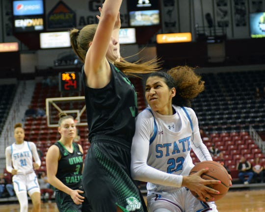 The New Mexico State women's basketball team plays Chicago State in the WAC quarterfinals at 1 p.m., on Wednesday.