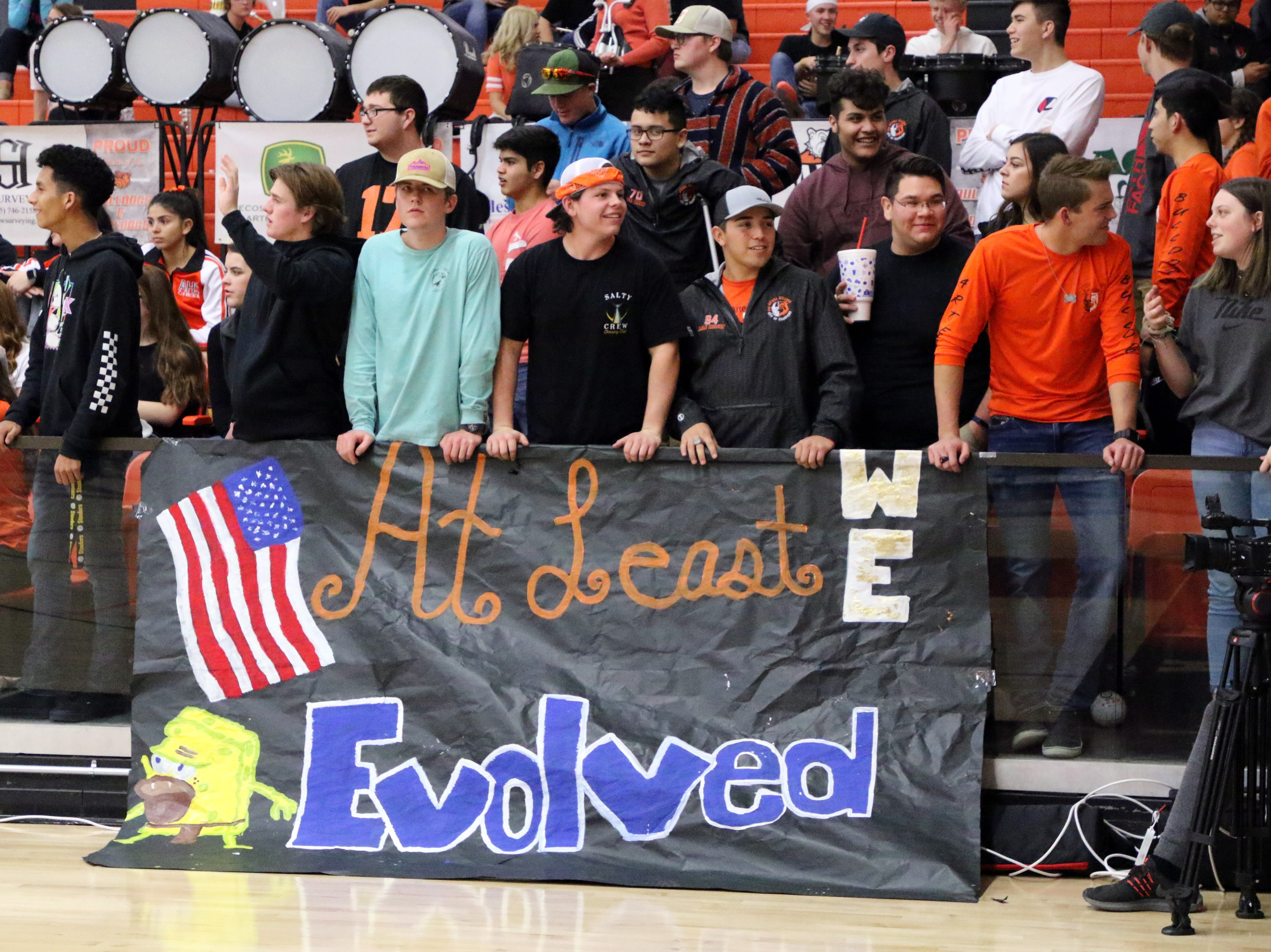The Artesia fans cheer on their Bulldogs during Friday's game.