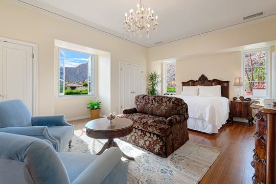 Newly renovated rooms at the Bishop Residence. The 1925 home has been converted into a hotel and is now part of the adjacent Willows hotel.