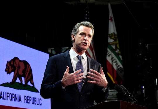 """In his first proposed budget, Governor Gavin Newsom said his administration would discuss """"linking"""" transportation funds to state housing goals meant to encourage new homebuilding."""