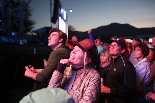 Fans at Sammy Hagar performance at Desert Classic after the day's PGA golf action at PGA West in La Quinta on Friday, January 18, 2019.