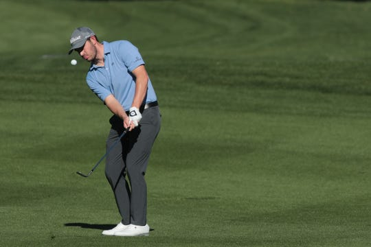 Adam Long takes a shot on 6 at La Quinta Country Club during the 3rd round of the Desert Classic on Saturday, January 19, 2019 in La Quinta.