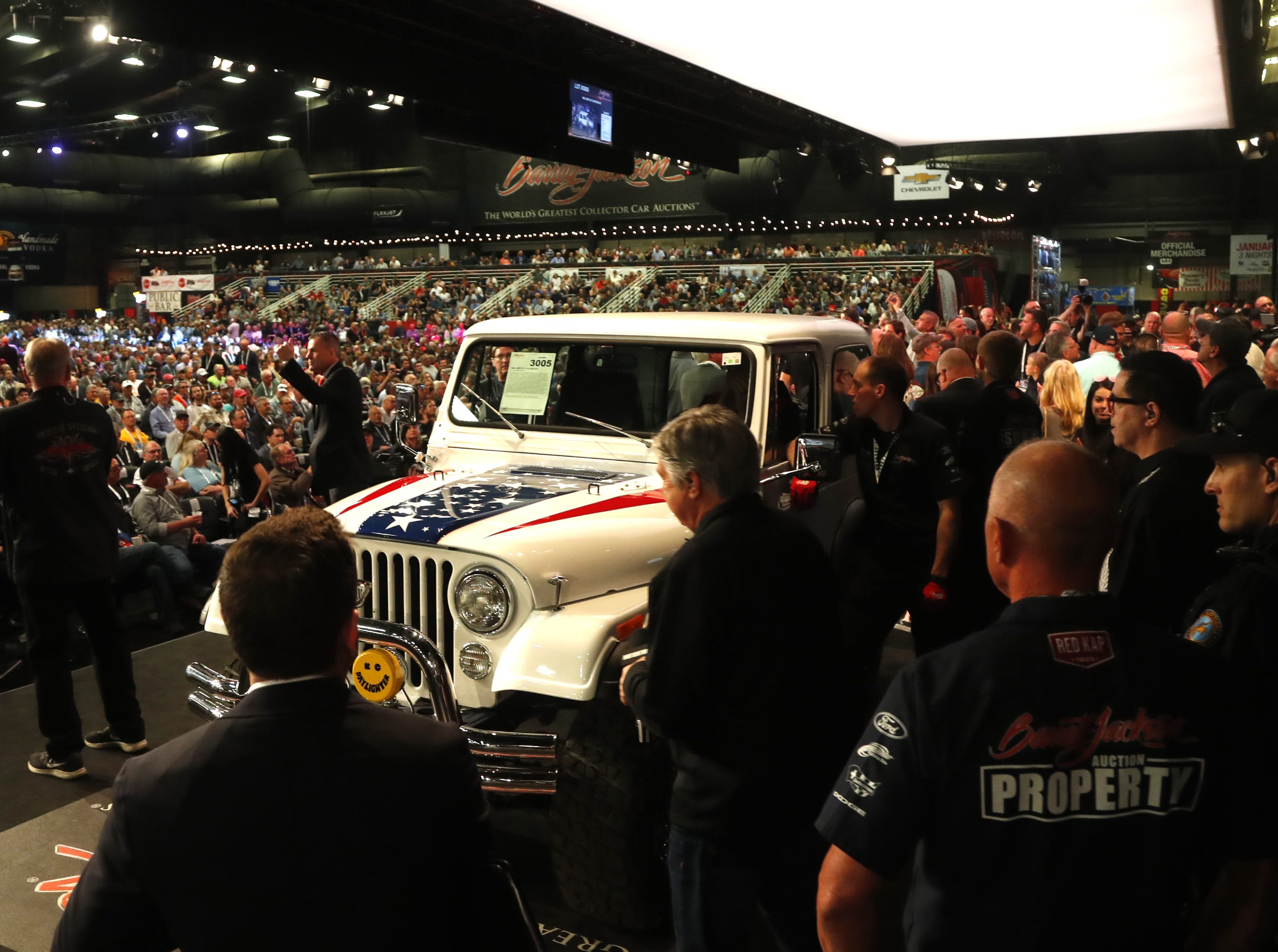 The custom Jeep is auctioned to benefit the Gary Sinise Foundation.