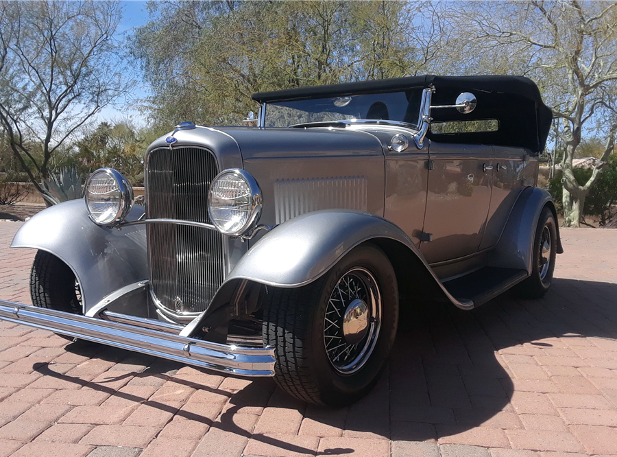 This 1932 Ford Phaeton Custom Convertible will be auctioned at Barrett-Jackson in Scottsdale on Sunday.