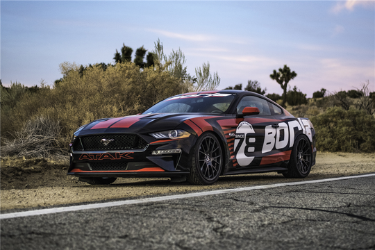 This 2018 Ford Mustang GT Custom Coupe will be auctioned at Barrett-Jackson in Scottsdale on Sunday.