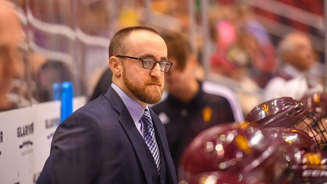 Arizona State hockey coach Greg Powers.