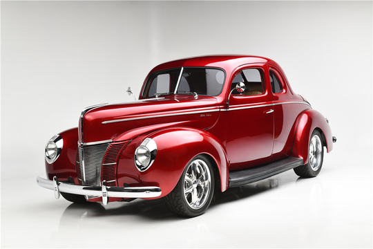 This 1940 Ford C Deluxe Custom Coupe will be auctioned at Barrett-Jackson in Scottsdale on Sunday.