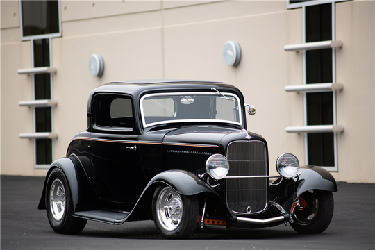 This 1932 Ford Custom 3-window Coupe will be auctioned off at Barrett-Jackson in Scottsdale on Sunday.