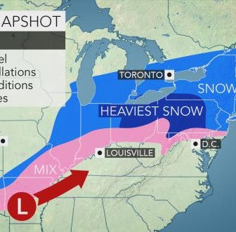 Snow storm latest: Less snow expected in Franklin County area, but it could get icy