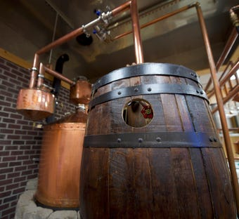 Bald Hills Distillery in Dover has one of the largest copper thumpers in the nation. Learn how co-owner James Runkle is making moonshine.