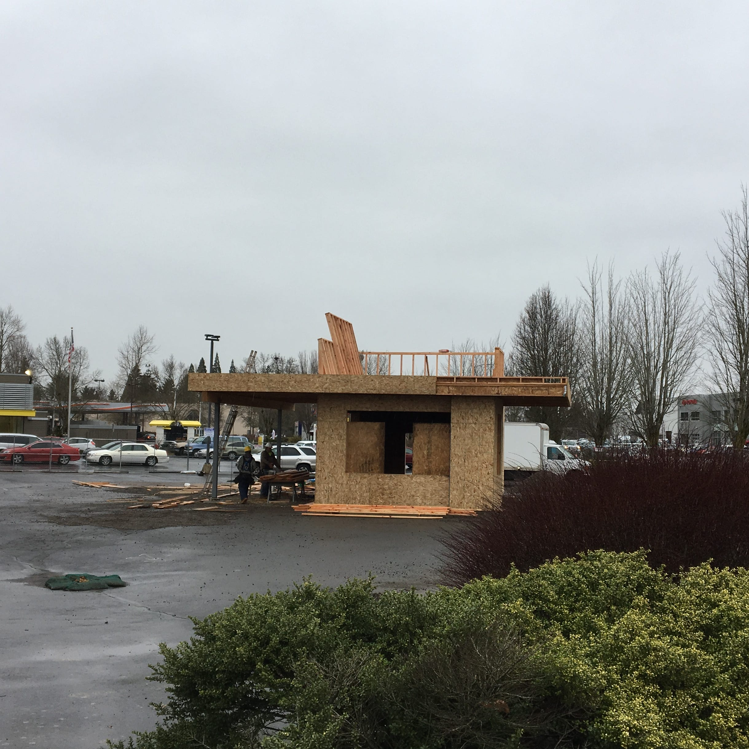 What's being built at the corner of Broadway and Salem Parkway?