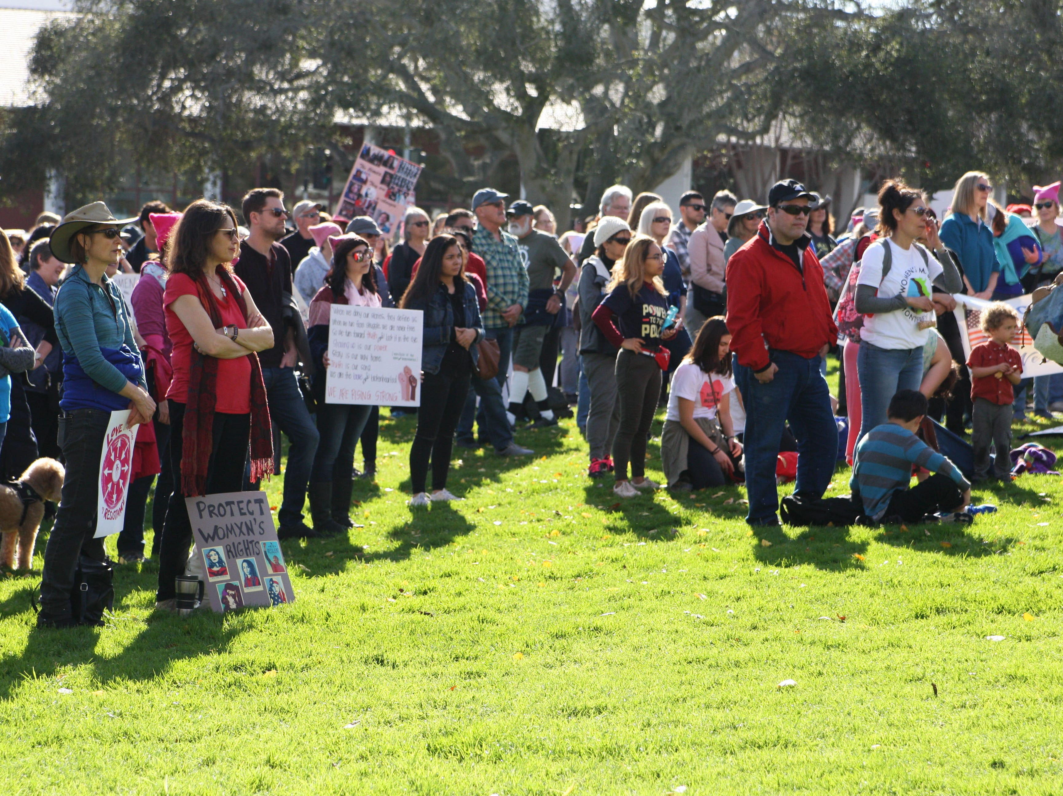 The crowd at the 2019 Monterey Women's March.
