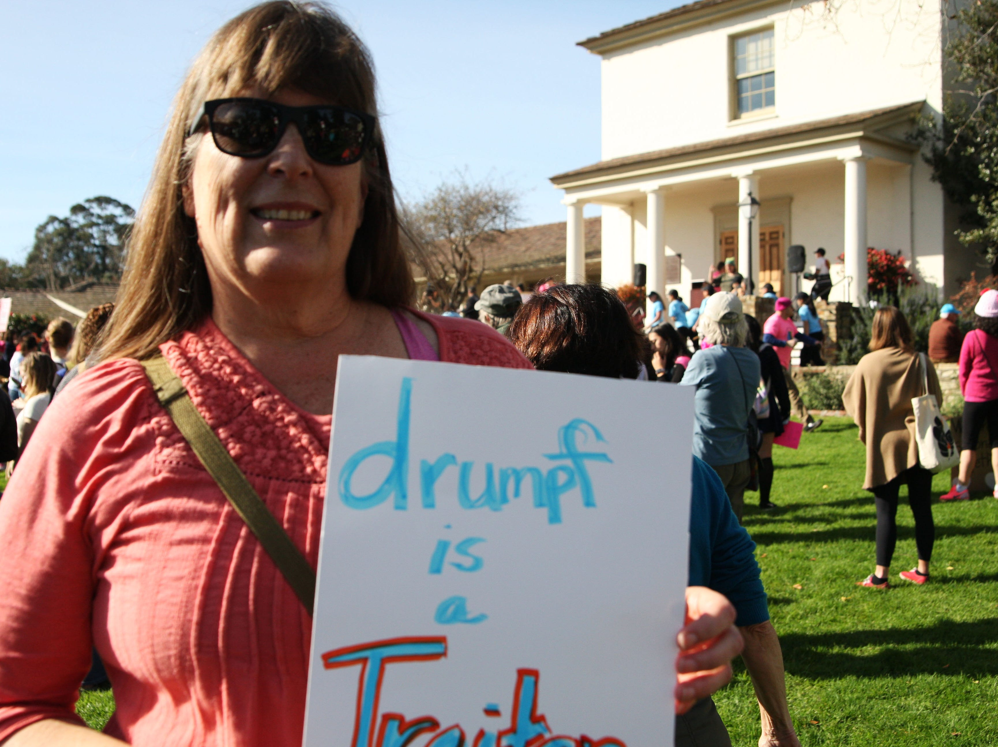 """Gaely Jablonski attended the 2019 Women's March Monterey because she wanted to send a message to President Donald Trump, who she called, """"our Predator-in-Chief."""""""