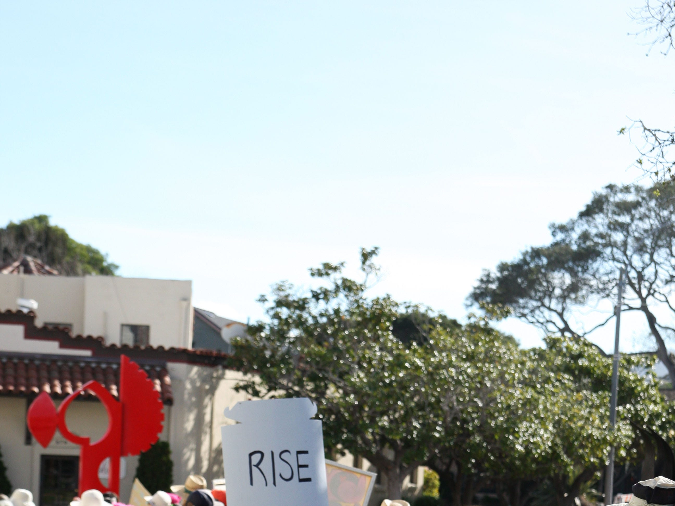 """One sign at the march simply read: """"Rise"""""""