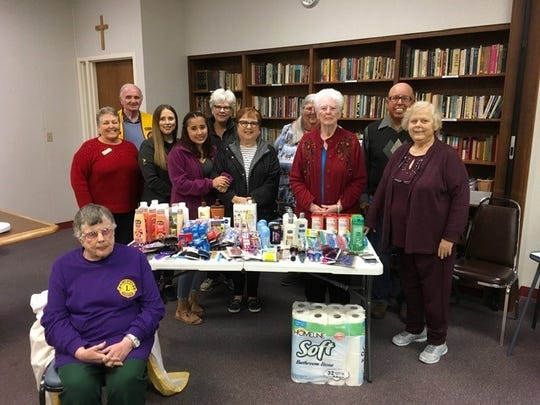 Members of the Concho Pearl Lions Club donated hygiene supplies to the Concho Valley Home for Girls and the Children's Emergency Shelter in San Angelo on Jan. 14.