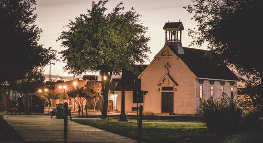 Twilight at Old Town in San Angelo.