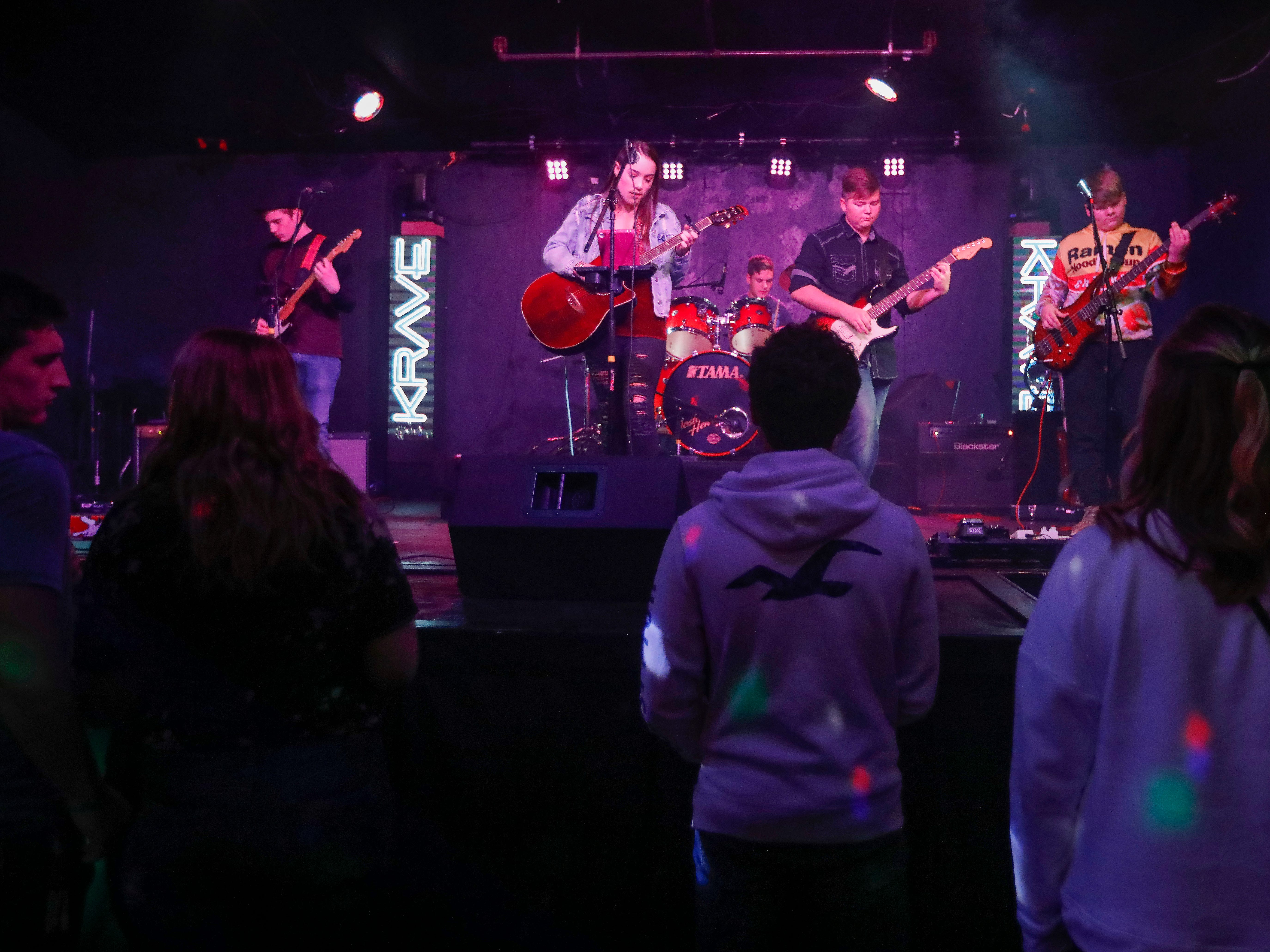 Fishing for Saturday performs at Krave on Friday, Jan. 18, 2019.