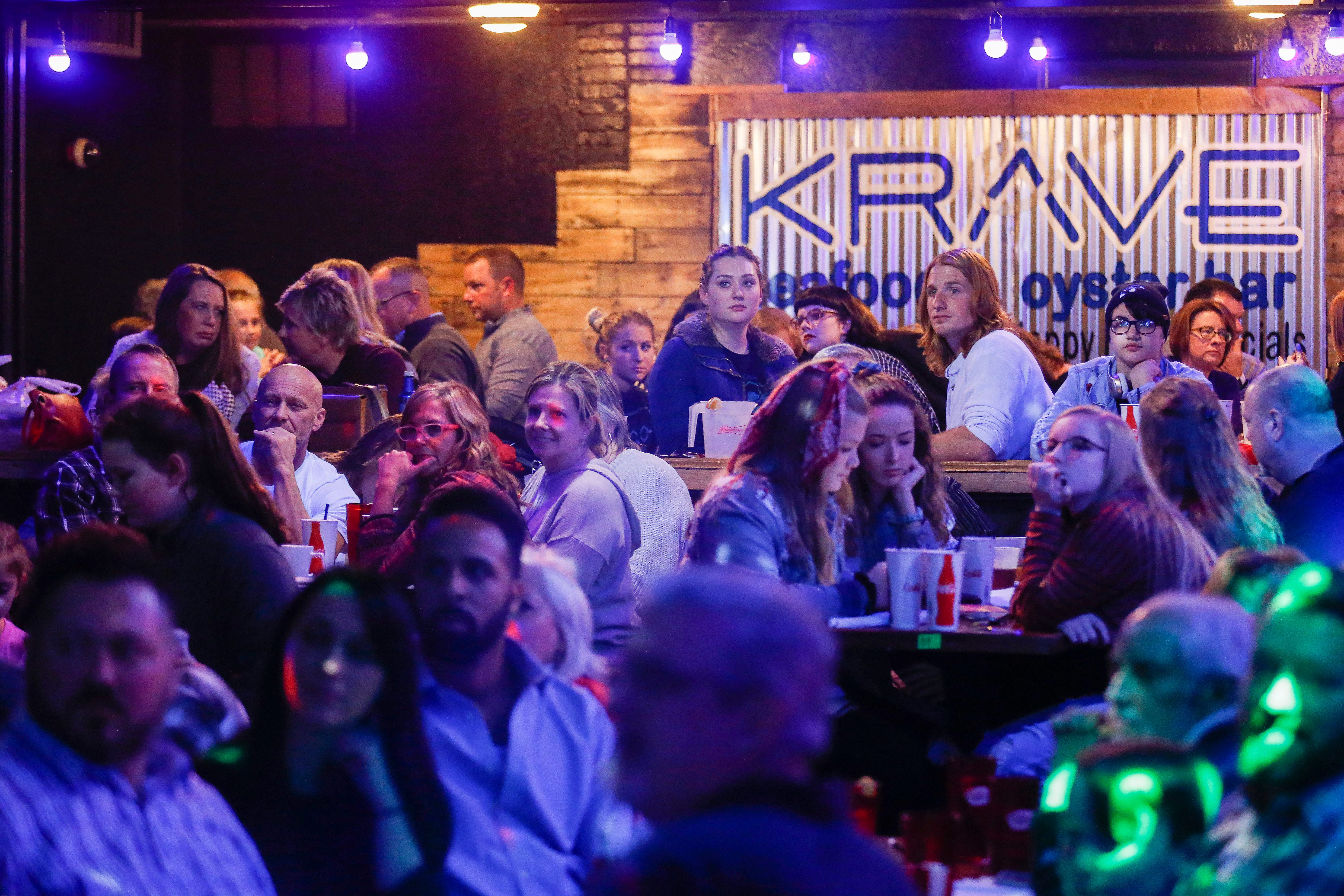 A large crowd watches Fishing for Saturday perform at Krave on Friday, Jan. 18, 2019.