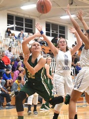 Wilson Memorial's Madison Flint fires off a shot at the basket during a game played in Staunton on Friday, Jan. 18, 2019.