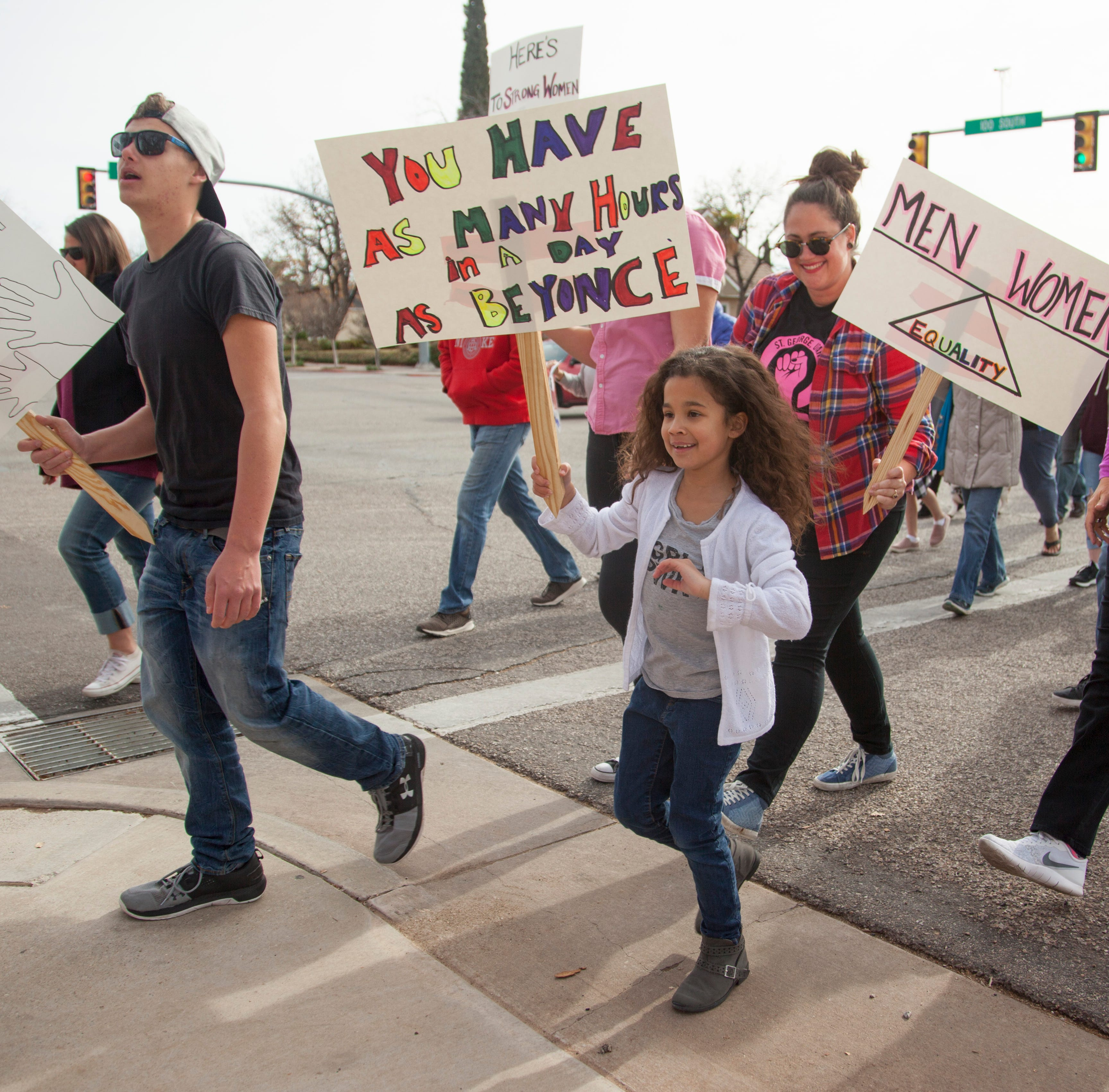 Women's March in Southern Utah: Community gathers to support women's rights
