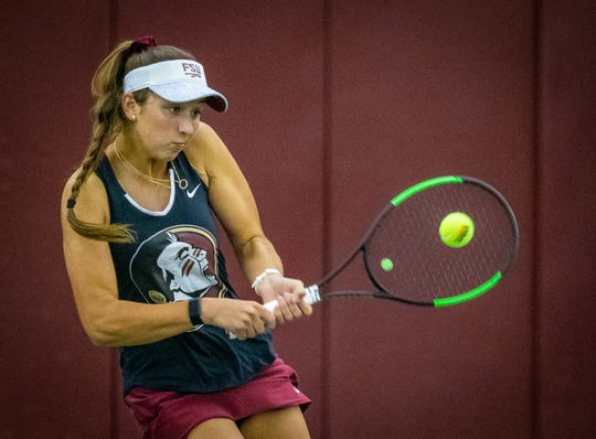 FSU sophomore Petra Hule is eager continue her upward mobility in 2019. She'll play a major role in the match versus UCF on Jan. 20.