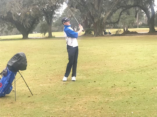 Chiles High School freshman Parker Bell shot 71 (-1) to stand as the first-round leader at the FJT at Capital City on Saturday, Jan. 19.