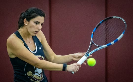 Florida State senior Ariana Rahmanparast is one of the leaders on the women's tennis team.