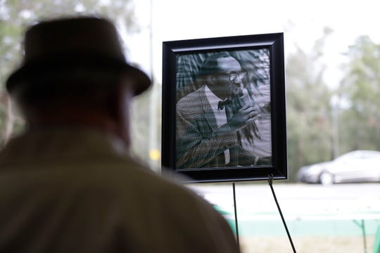 State roads 373 and 371 were renamed in honor of Reverend C.K. Steele, Saturday, Jan. 19, 2019. A dedication ceremony took place at the corner of W. Orange Ave. and Capital Circle SW. The silhouette of one of Steele's sons, Reverend Henry Steele, is seen with a portrait of his father displayed in front of him.