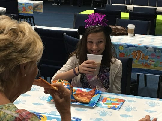 Evelyn Knightly was given her 10th birthday party by A Soldier's Child Foundation and Central Assembly of God in Indian River County Saturday.