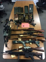 Firearms confiscated from an Agoura Hills residence on Jan. 11.